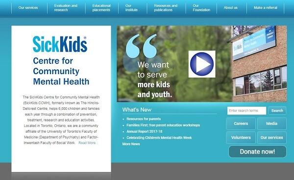 SickKids CCMH old website